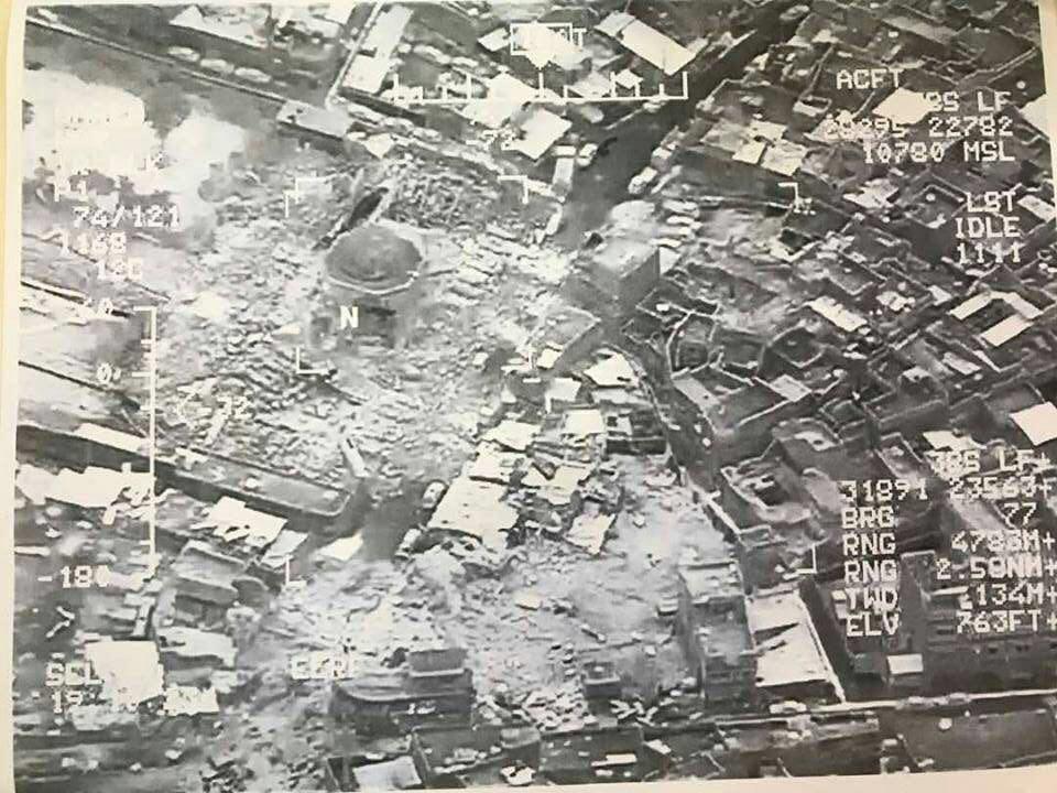 انفجار در مسجد النوری /تخریب مسجد بزرگ موصل که ابوبکر البغدادی در آن اعلام خلافت کرد+عکس