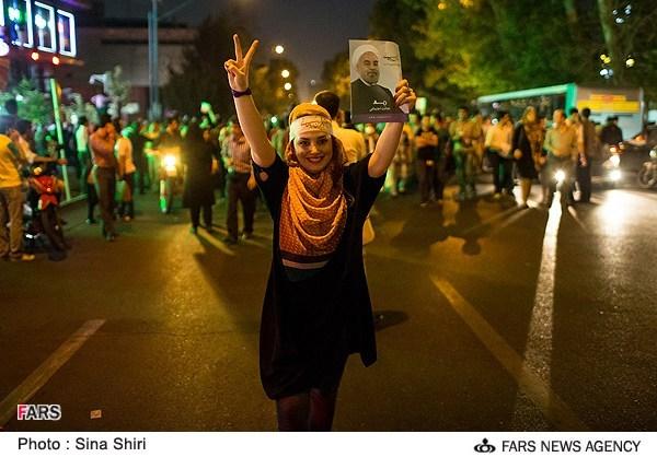 «گزارش تصویری» از شادی ملّت پس از پیروزی قاطع